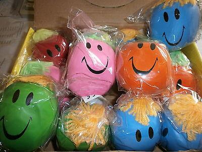 6 große Stressbälle - Knetball mit Gesicht - Mitgebsel für Kindergeburtstag
