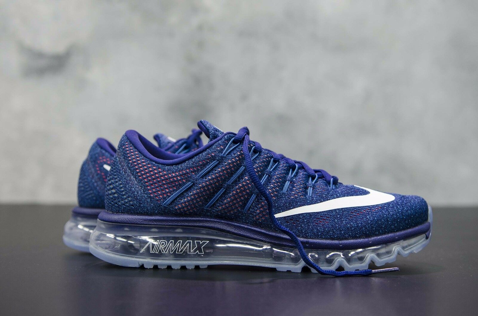 Nike Air Max 2016 806771-411 Loyal Blue / Summit White Hombres Sz 8