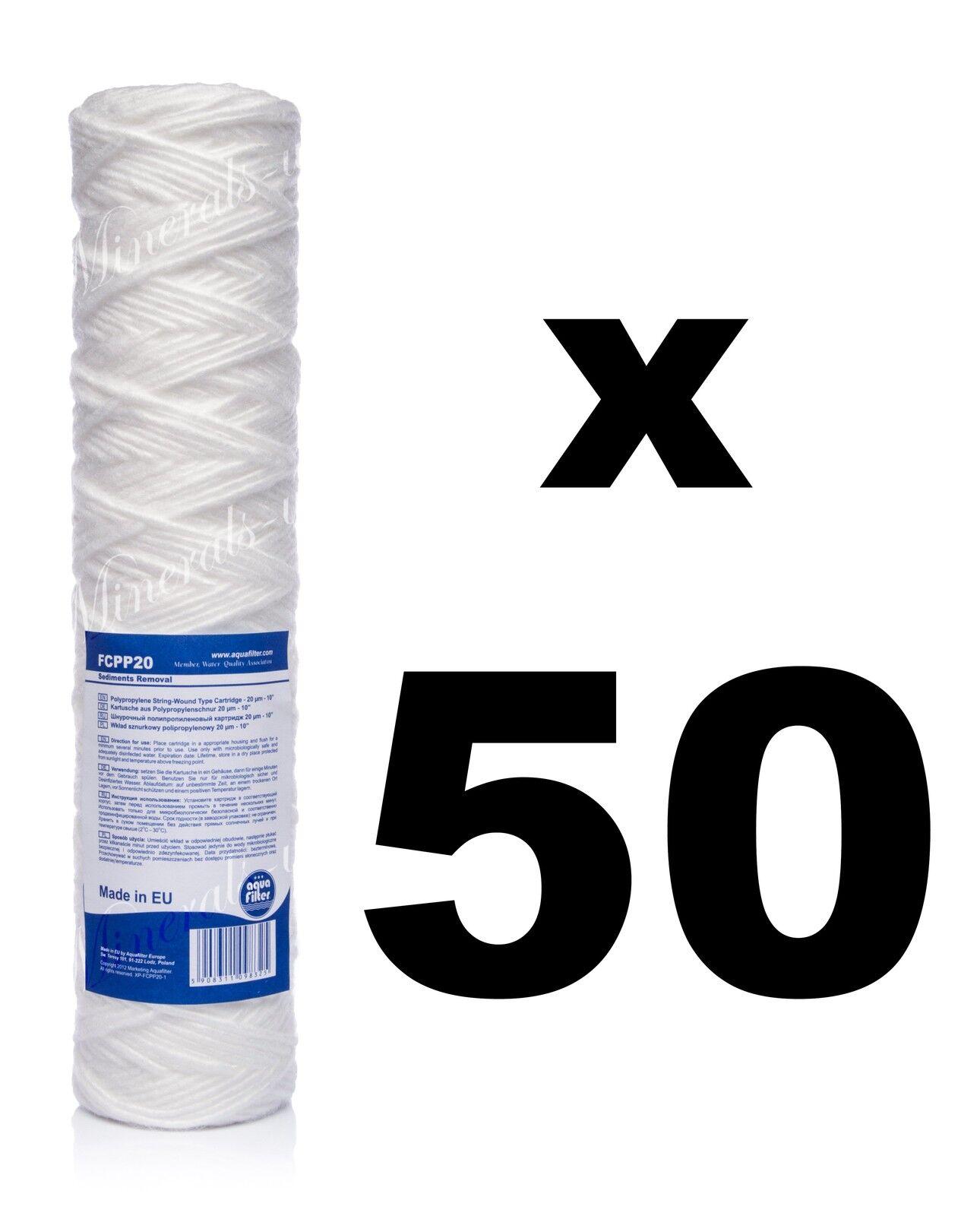 50 x 20 micron filtre sédiment string-wound 10  , Osmose inverse, biodiesel.