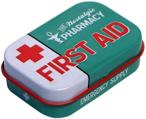 Pfefferminzdragees FIRST AID Pharmacy DOPI21 Geprägte Nostalgie Pillendose