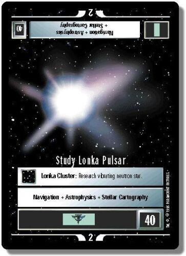 Star Trek CCG Premiere BB Limited Study Lonka Pulsar
