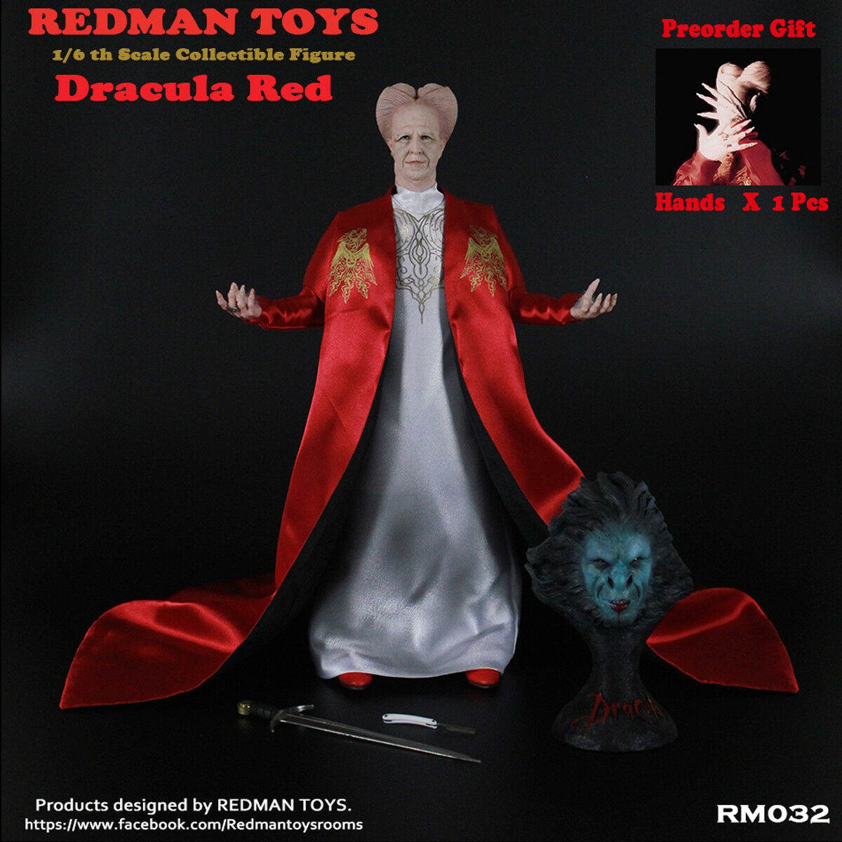 rotMAN TOYS 1 6 RM032 RM033 Dracula Action Figure Collectible rot & Blau Version