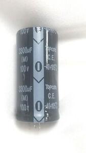 2-PCS-3300UF-3300mfd-100V-Electrolytic-Capacitor-105-degrees-USA-FREE-SHIPPING