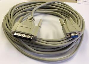 15' DB9F/DB25M AT MODEM CABLE