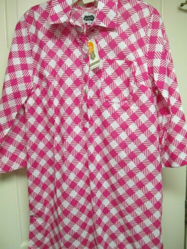 NWT 4-6 Size Small Pink White Checked Cotton Cover-Up by Mud Pie