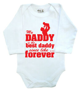 Dirty-Fingers-My-Daddy-is-the-best-Daddy-Father-039-s-Day-Baby-LS-Bodysuit