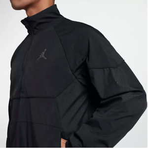 199e87ab4a3c Nike Jordan Retro 3 III Half Zip Woven Track Jacket Black Cement ...