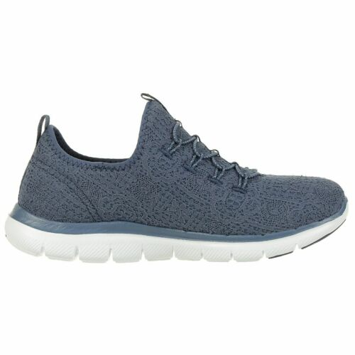 Skechers Flex Appeal 2.0 CLEAR CUT Damen Sneaker Slip on Memory Foam blau 12907