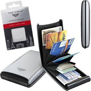 TRU VIRTU Aluminium Kreditkartenetui Visitenkarten Etui EC Kartenetui RFID Börse
