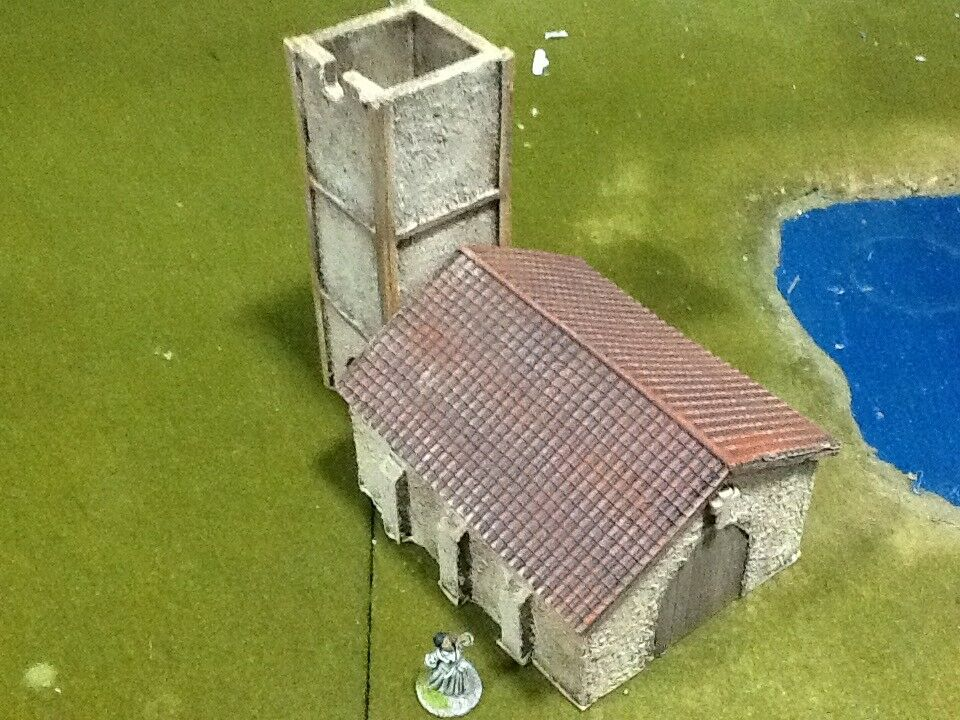 SPANISH PENINSULAR CHURCH - BATTLEFIELD BUILDINGS - PAINTED - 28MM - NAPOLEONIC