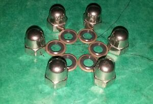 VW-Aircooled-Volkswagen-Oil-Sump-Plate-Leak-Resistant-Seal-Washers-Dome-Nuts-Bus
