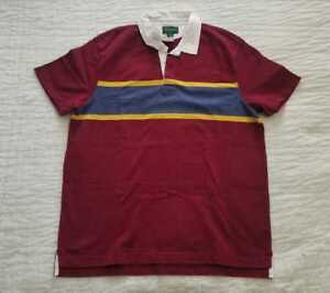 dd9a8a5652d NEW MEN'S L XL J CREW RUGBY SHORT SLEEVE POLO SHIRT IN RED | eBay