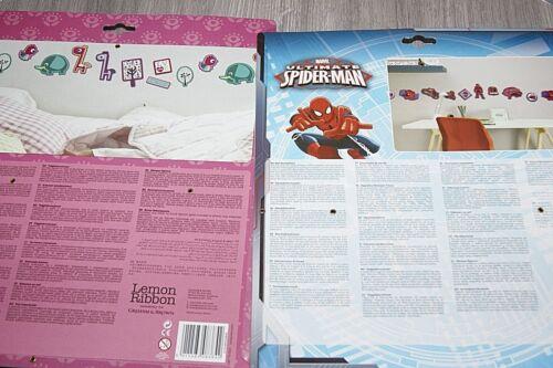 Wall Stickers Fisher-Price 24 Foam Piece Spider-Man Or Lemon Ribbon Free UK Post