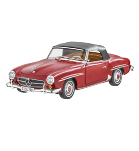 Mercedes Benz W 121 - 190 SL Red With Hood 1 18 New OVP NOREV