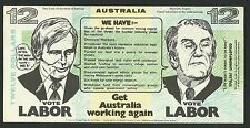 Australia Political Novelty 12 Dollars Government of Inflation Uncirculated