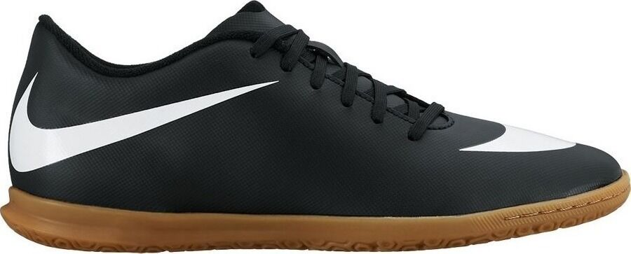 NEW NIKE BRAVATA IC Indoor Soccer MENS Black White Gum 768924 011 Leather NIB