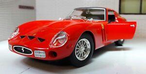 G Lgb 1 24 Scale Red Ferrari 250 Gto 1962 26018 Burago Very Detailed