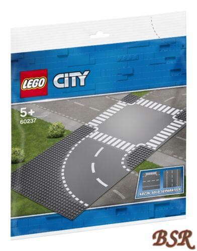NOUVEAU /& NEUF dans sa boîte! LEGO ® 60237 courbe /& Croisement//Routes plaques 32x32 d/'