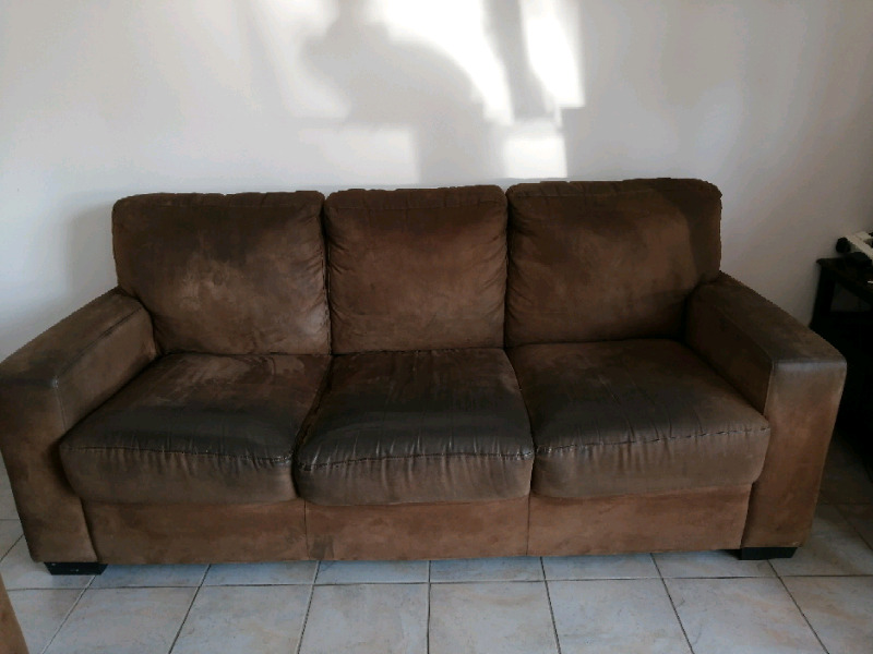 Brown Suede Couches