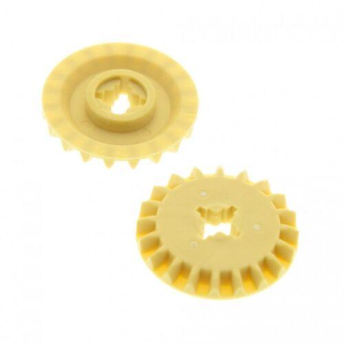 2x Lego Technic Zahnrad beige 20 Zähne Rad Typ1 31313 9493 10226 4514557 32198