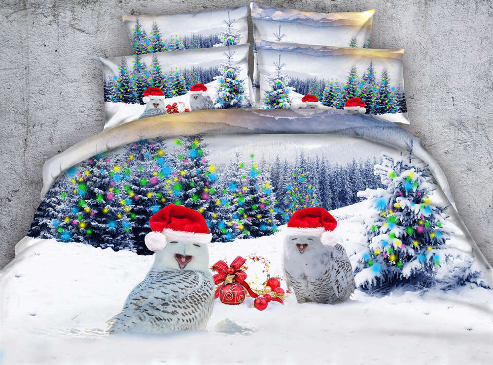 Snowman Lying Down 3D Printing Duvet Quilt Doona Covers Pillow Case Bedding Sets