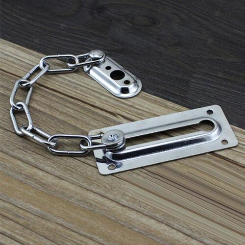 Türschloss Kettenriegel Home Security Türschutz Restrictor Chain Silber