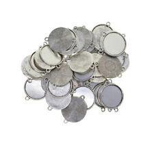 8pcs dark silver color 2sided  round shaped cabochon setting in 20mm EF3295