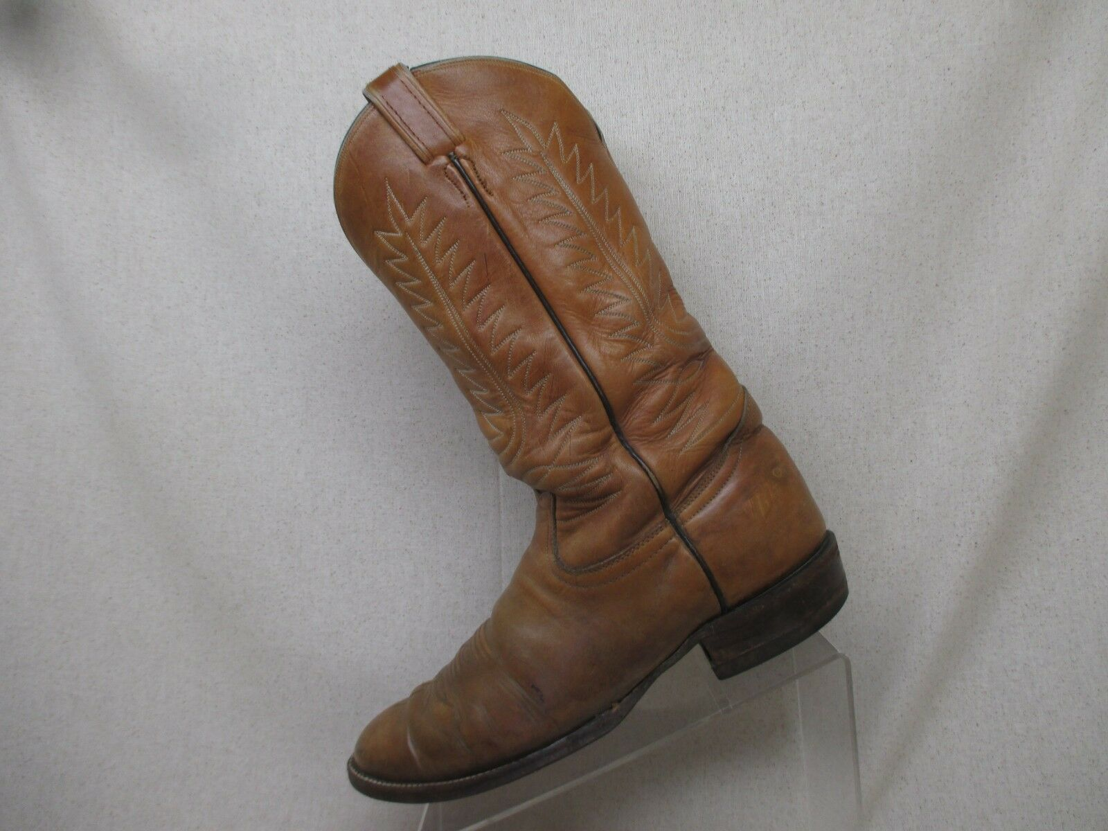 33dbe61b963 Tony Lama Brown Leather Leather Leather Western Cowboy Boot Men Size ...