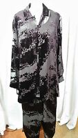 Windsmoor 3 Piece Very Loose See-through Lightweight Suit Purple Size 12
