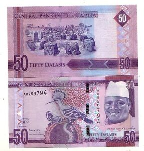 Gambia-50-dalasis-2015-FDS-UNC-Pick-new-lotto-4101