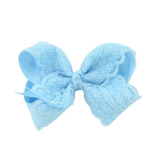 Girls Baby Grosgrain Hair Bow Alligator Lace  Hair Clip Hair Accessories  SP