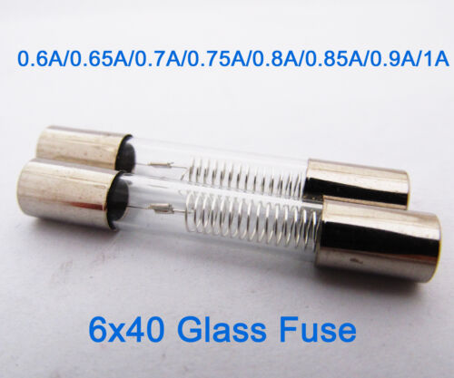 2pcs High Voltage 5KV 5000V 6 x 40mm Glass Tube Fuse for Microwave Oven
