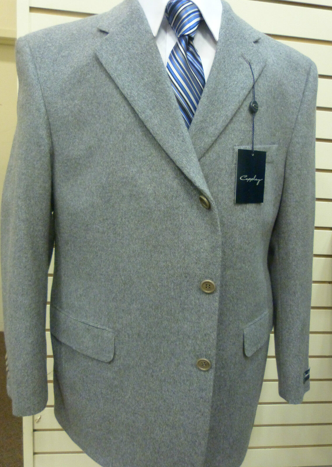 Coppley Three Button Sport Coat, Wool/Angora, Made in Canada,42 L,NWT