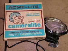 650W 120V GE ACME-LITE CAMERALITE Top Mount Light Super 8 Cameras Model 91 DWA