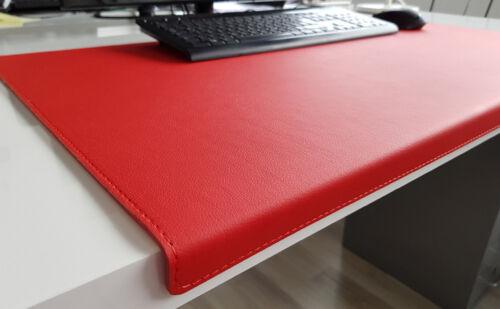 Gewinkelte Schreibtischunterlage Soft Lux Leder 60 x 38 Rot
