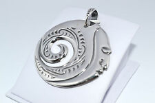 925 STERLING SILVER UNIQUE HANDMADE SOLID PENDANT- 15.5  grams