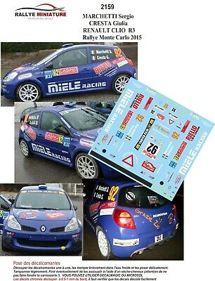 A MAGAUD RALLY MONTECARLO 1992 DECALS 1//43 RENAULT CLIO GR