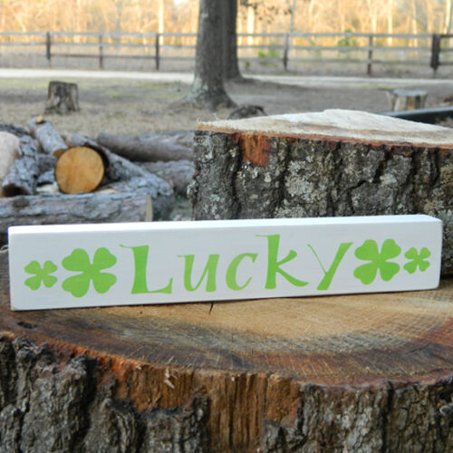 Lucky 6 Different Color Combinations! Patrick/'s Day Wooden Shelf Sitter St