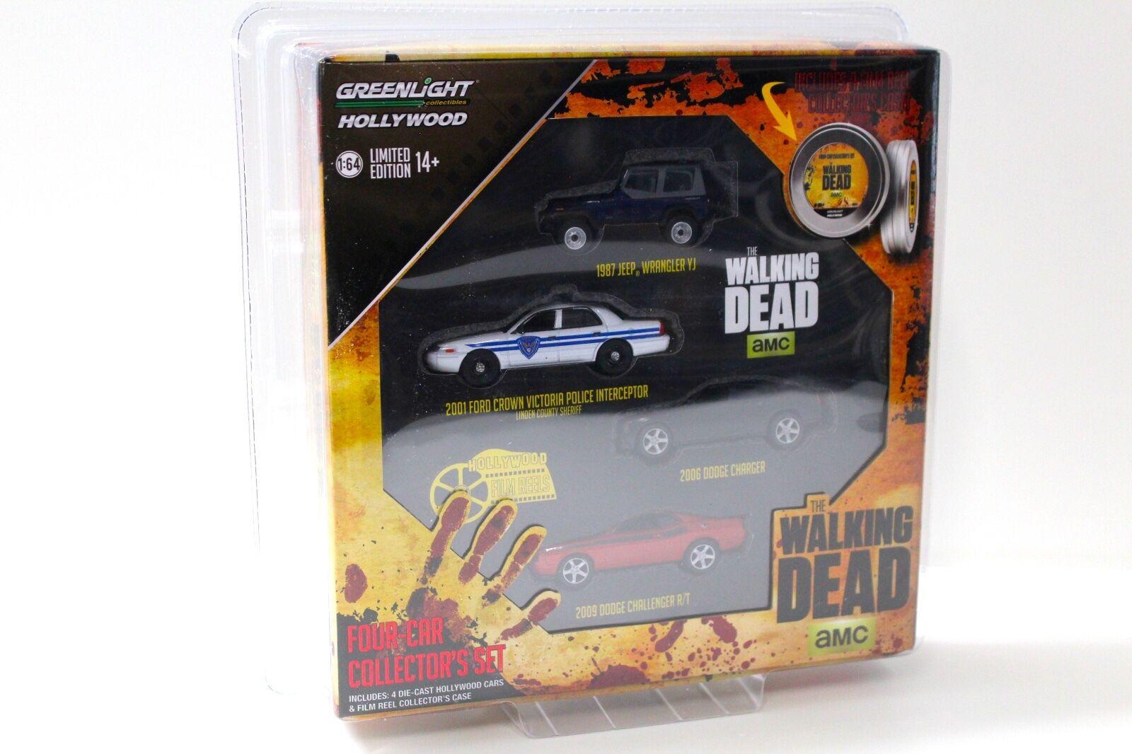 1 64 Grünlight The Walking Dead Hollywood Set 4x Cars NEW bei PREMIUM-MODELCARS  | Jeder beschriebene Artikel ist verfügbar