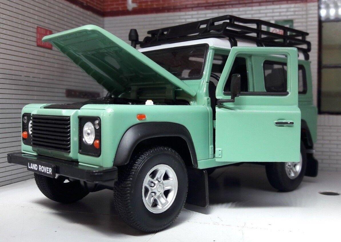 Land Rover Defender Heritage Vert Tuba Toit 1 24 Miniature à L'Échelle