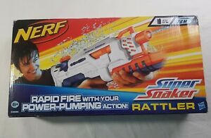 Hasbro-Nerf-Super-Soaker-Rattler-White-Rapid-Fire-with-Power-Pumping-Action
