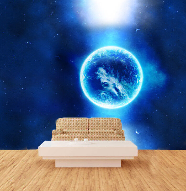 3D Bule Planet 419 Wallpaper Murals Wall Print Wallpaper Mural AJ WALL UK Carly