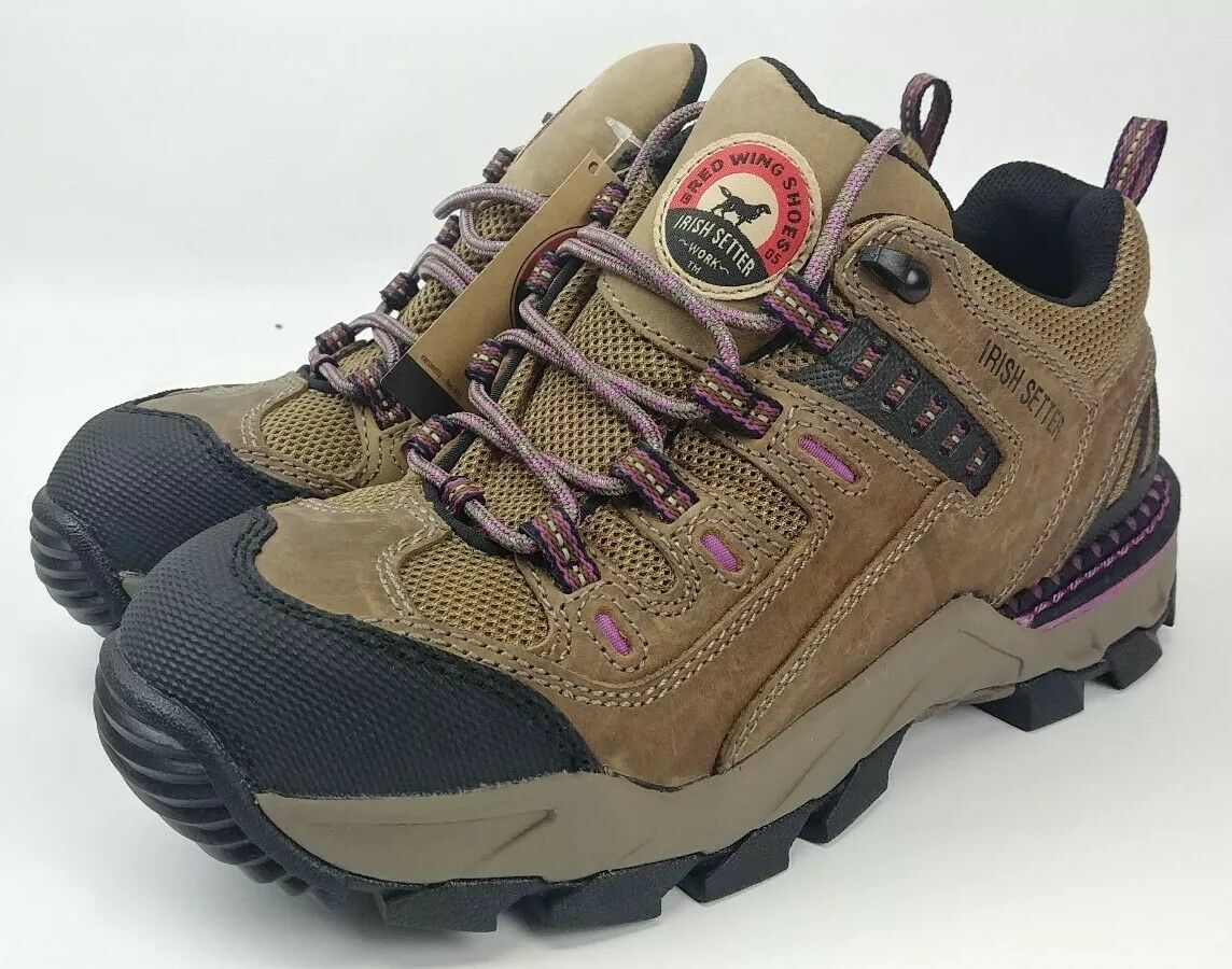 Red Wing Irish Setter Setter Setter 83202 Womens Oxford Safety Toe Work shoes Athletic Sz  8 D 6c8bc3