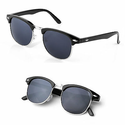 Polarised Sunglasses - Vintage / Retro Half Rimmed Frames - POLARIZED LENS