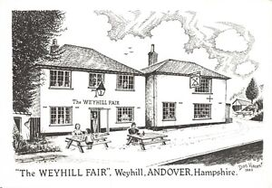 Art-Sketch-Postcard-The-Weyhill-Fair-Weyhill-Andover-Hampshire-Don-Vincent-AS1