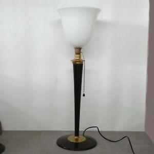 Original-Mazda-Tischlampe-von-1930-mit-original-Opalglastulpe-Designer-Lampe