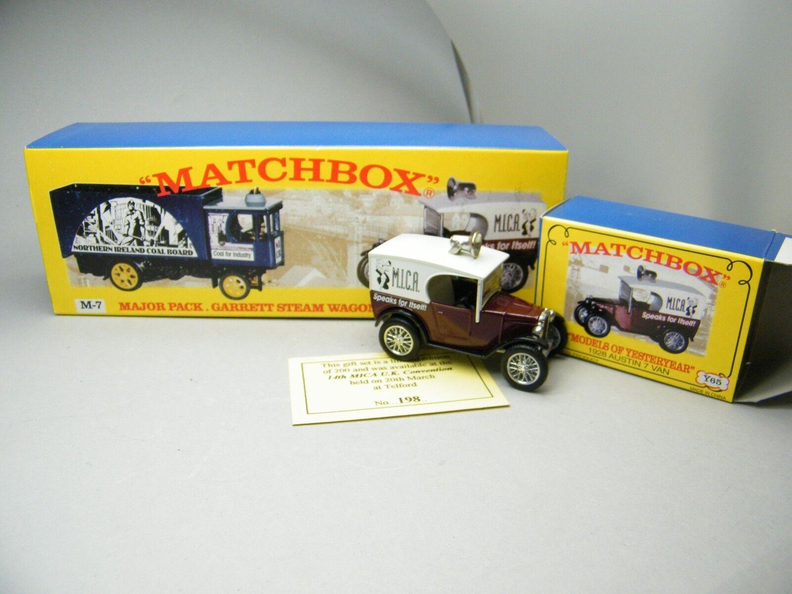 Matchbox MOY c2 y-65 Austin Seven de mica m-7 set 1 de 200 très rare neuf dans sa boîte k17