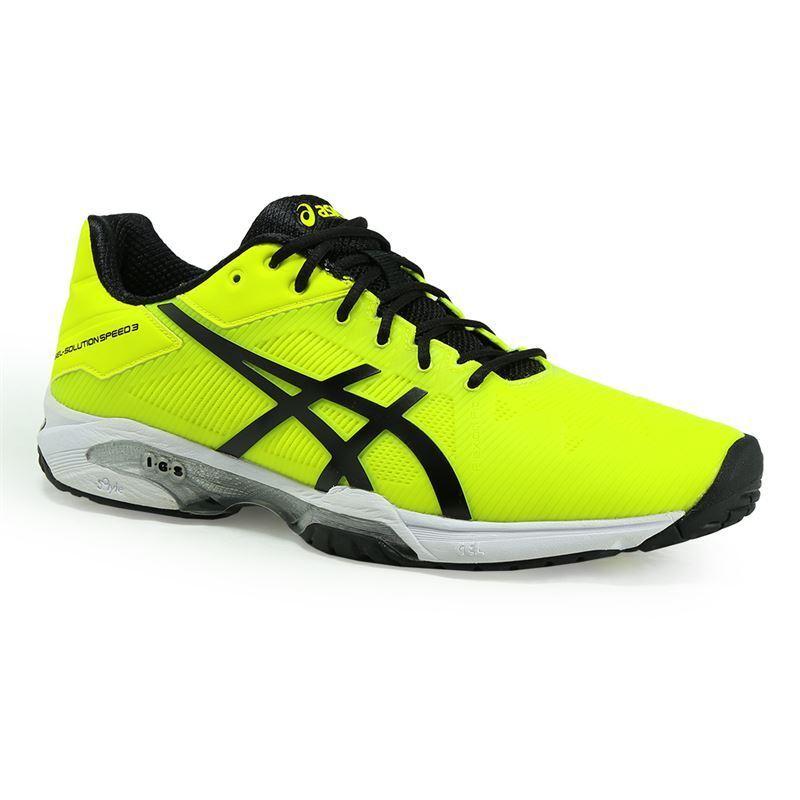 GEL-SOLUTION SPEED 3 Neon Yellow Men's Tennis Shoes US 6.5 - 11.5