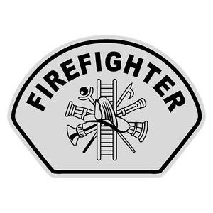 """Firefighter Maltese Cross Vinyl Decal Helmet Sticker 2/"""" BLACK REFLECTIVE Custom"""