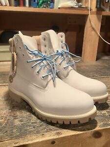 Timberland Mens Limited Release Milk & Cookies 6 inch Boots Off White A1OTF Sz 9